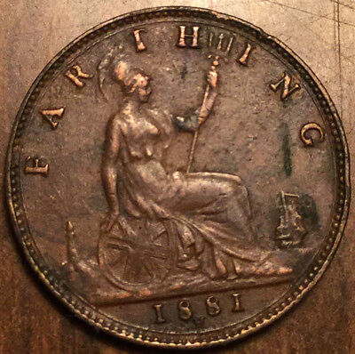 1881H UK GB GREAT BRITAIN FARTHING in good condition !