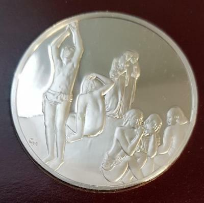 100 Greatest Masterpieces 2.08oz Sterling Silver Proof - Where Do We Come From..