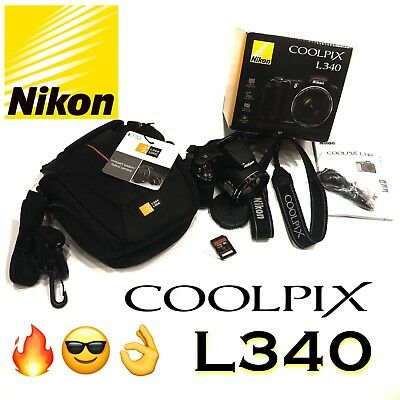 Nikon Coolpix L340 Camera **HUGE BUNDLE!** Like New Condition, Photography