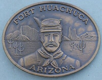 Vintage Fort Huachuca Arizona 11th Signal Group Belt Buckle Named Ft. Military