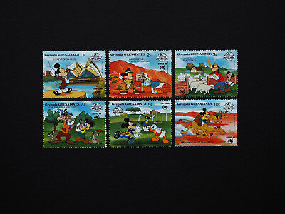 Amazing DISNEY Set of SIX scarce Stamps from Grenada  -  All OZ themed   MINT NH