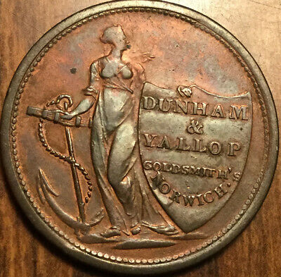 1811 United Kingdom Norfolk Norwich Dunham and Vallop half penny