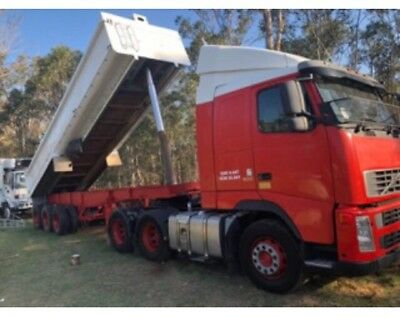 2003 Volvo FH12 And 9.5 Metre Steel Chassis Tipper Trailer