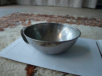 Antique Vomit Bowl in Metal  1950's