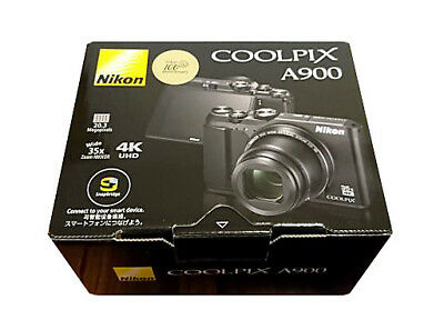 Nikon COOLPIX A900BK 20MP Wi-Fi 35x Optical Zoom 4K Digital Camera Japan F/S