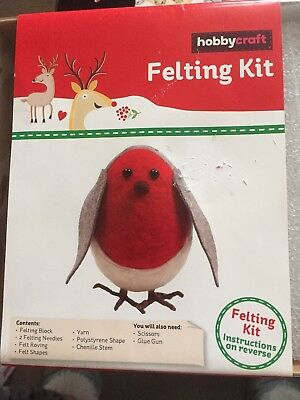 Hobbycraft Felting Kit Of A Robin