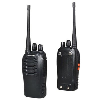Pair Walkie Talkie Long Range 2 way Radio 16CH BF-888S UHF 400-470MHZ Earpiece