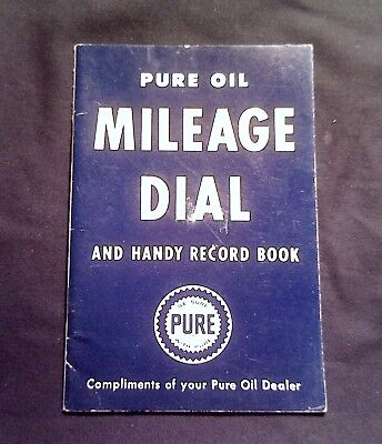 Vintage 1957  Pure Oil Mileage Dial Car Record Book ***mint Unused Condition!***