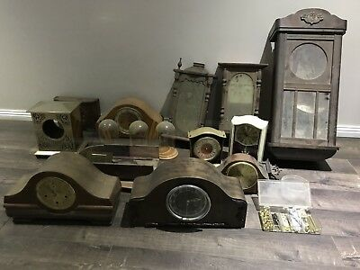Mantle Clocks And Clock Cases Bulk Lot Art Deco