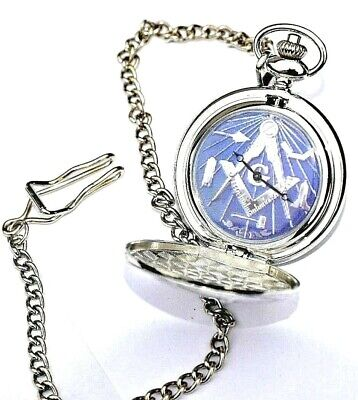 Masonic Gift Pocket Watch Personalised With / Without Engraving In Gold / Silver