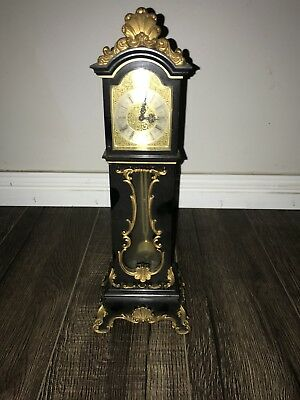Grandfather Clock Mechanical Wind Up Pendulum Novelty Clock Art Deco Antique
