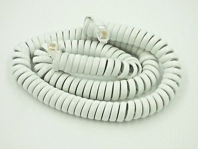5m White  RJ10 Telephone Cable HI QUALITY Phone Handset Coiled Cord Spiral Wire