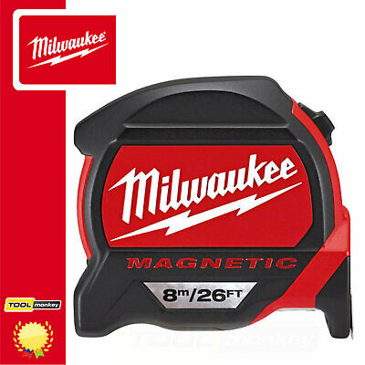 Milwaukee 8m Tape 48227225 GEN2 Magnetic Pro Tape Measure - Metric & Imperial