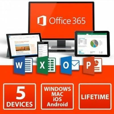 Microsoft Office 365 Home Subscription 5 Users Windows Mac Mobile
