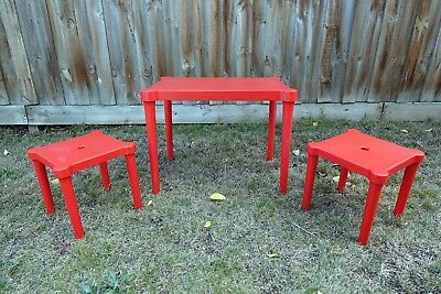 IKEA UTTER children's table with two matching stools