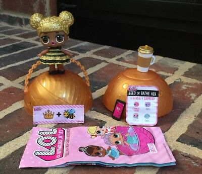 LOL Surprise Series 1 **Queen Bee**Rare Glitter L.O.L. Retired Napping!