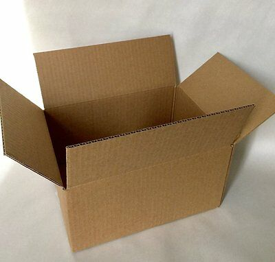 "100 MED SINGLE WALL CARDBOARD BOXES 12x9x6""  ROYAL MAIL SMALL PARCEL SIZE 24H !"