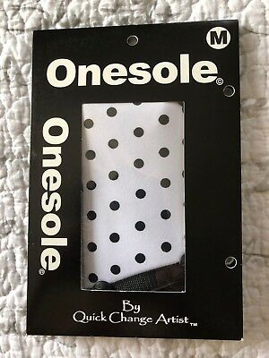 """Onesole Interchangeable Shoe """"TOPS""""  - Black and White Polka Dots - Medium"""