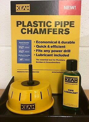 Pipe Chamfering Tool for 110mm Plastic Pipes from KEAH