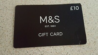 M & S GIFT CARD - £10  (Marks and Spencers)
