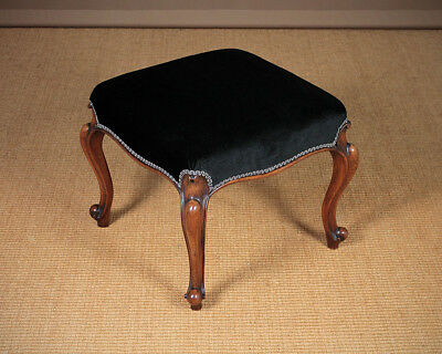 Antique Walnut Cabriole Leg Dressing Stool c.1860.
