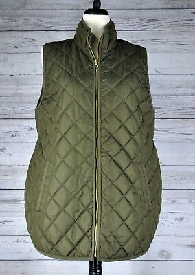 Old Navy Maternity Lightweight Quilted Vest • Olive Green • Size Large