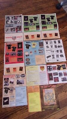 KISS Large Lot of Album Inserts & Order Forms