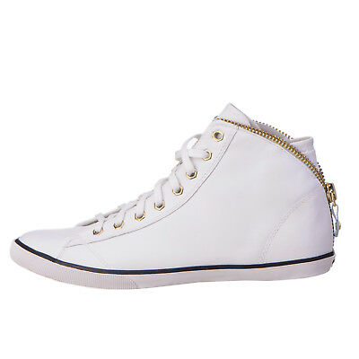 RRP €165 DIESEL Size 39 / UK 6 SUNZIP MC W Genuine Leather Lace-Up Sneakers