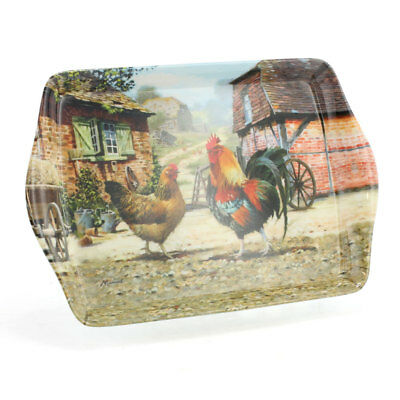 Leonardo Collection Cockerel and Hen Small Snack Tray / Serving Tray