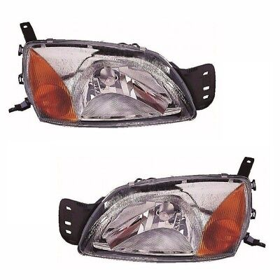 TRANSIT CONNECT 2002 HEADLIGHTS HEADLAMPS 1 PAIR O//S /& N//S