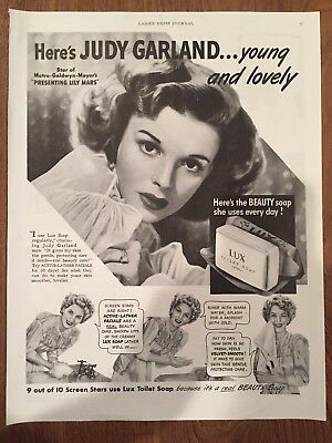 Vintage Judy Garland Lux Soap Advertising 1943