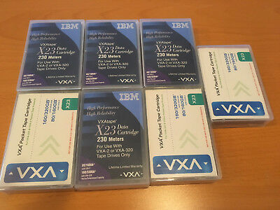 VXA X23 Tape Data Cartridge Datenkassette 80-320 GB mit Barcode (7 Stück)