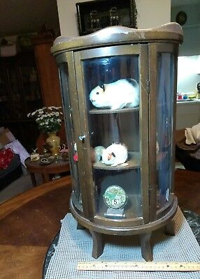 """A Vintage 23"""" Inch Tall Wood Display Case With 3 Shelves. It Could Use Some Work"""