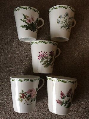 Portmeirion Botanical Mugs x 5