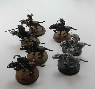 7 WARG RIDERS Plastic Lord of the Rings LOTR Evil Army Warhammer 56