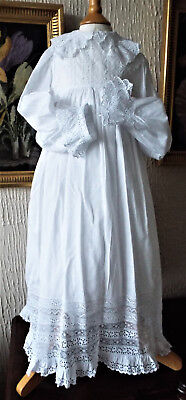 Vintage Baby  Christening Gown/b Anglais And Lace