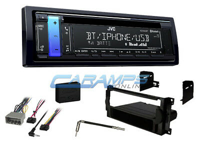New Jvc Car Stereo Radio Receiver Cd Player Bluetooth Aux W Complete Install Kit