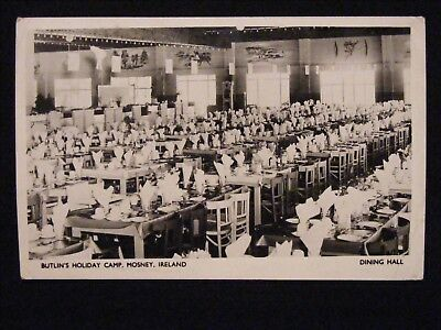 Rare 1952 Butlins Holiday Camp Mosney Co Meath Ireland Dining Hall Rp Postcard