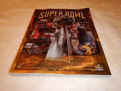 NFL Super Bowl 50 Official Game Denver Broncos vs. Carolina Panthers Program
