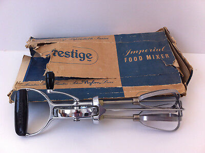 Vintage 1950's/60's Prestige Imperial Food Mixer Stainless Steel Beaters Ex.Cond