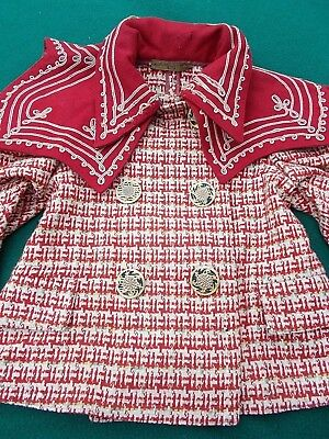 * Rare * young girl's jacket...amazing period buttons  c.1900