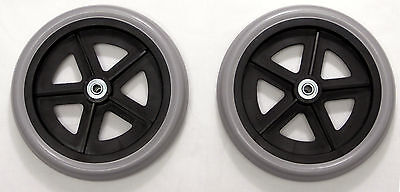"""Rollator Walker 8"""" Caster Wheel Replacement Parts With Bearings C4608 2 pcs NEW"""