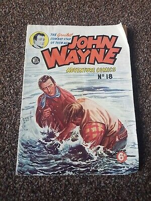 JOHN WAYNE Comic No.18 by World Distributors (Manchester) Ltd 1953 Very Good Con