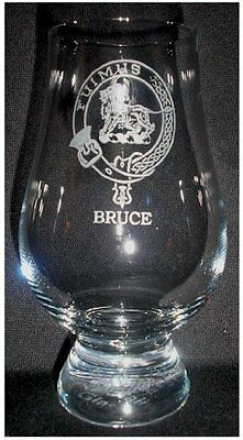Clan Bruce Scotch Malt Whisky Glencairn Tasting Glass