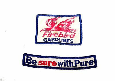 50's Pure Gas Oil Firebird Station Shirt Patches Ex Ticket Show Auto Chicago Ofr