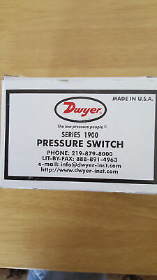 Dwyer series 1900 Pressure Switch , Model 1910-0