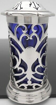 Beautiful Art Nouveau Sterling Silver Pepper Pot - Sheffield 1901 - Antique