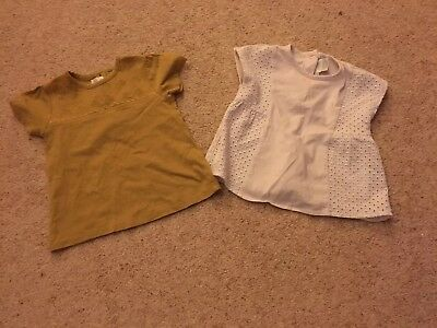 2 Mamas And Papas Baby girls Tops 12-18 Months