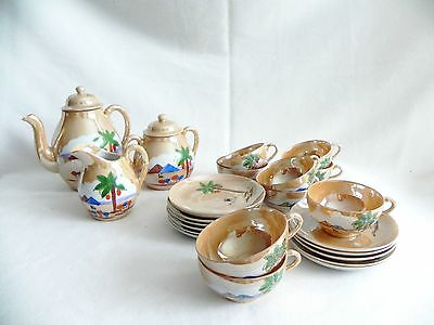23 pieces Japanese Eggshell Porcelain Tea-Coffee Set For 9 Hand Painted Vintage