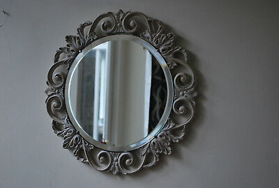 vintage decorative french style shabby chic distressed bevel edged wall mirror